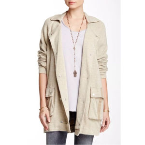 ✨ Free People Notched-Lapel slouchy Peacoat ✨